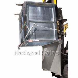 Picture of Drop Bottom Bin 1.5m3 Forklift and Crane