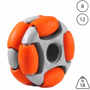 Picture of Rotacaster 48mm Double 65A Medium Polyurethane Roller 12mm Plain Bore