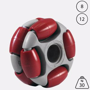 Picture of Rotacaster 48mm Double 90A Firm Polyurethane Roller 11.1mm Plain Bore
